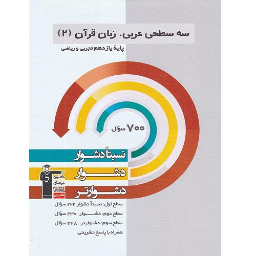 کتاب کمک درسی عربی یازدهم سه سطحی قلم چی