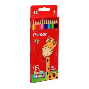 مداد رنگی ۱۲ رنگ پنتر Panter جعبه مقوایی