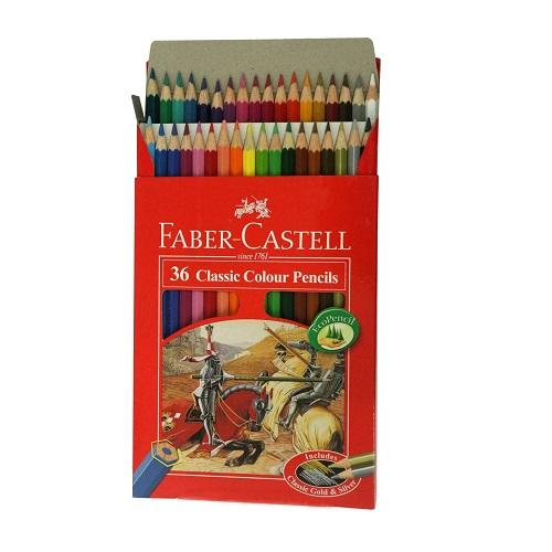 مداد رنگی 36 رنگ فابر کاستل مدل Classic ترنج مارکت