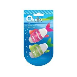 پاک کن کوییلو آلمانی دو تایی طرح ماهی Quilo fish ترنج مارکت