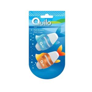 پاک کن کوییلو آلمانی دو تایی طرح ماهی Quilo fish