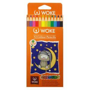 مداد رنگی ۱۲ رنگ وک WOKE مدل colours